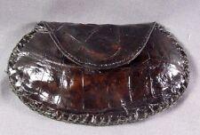 New Handmade Genuine Dark Brown Alligator/Crocodile Skin coin bag 2