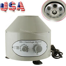 USA Electric Centrifuge Machine Lab Medical Practice 4000rpm W/ 6x 20ml Rotor
