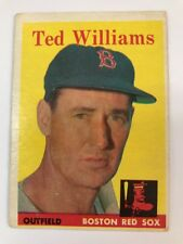1958 Topps Ted Williams Boston Red Sox #1 Baseball Card
