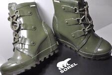 Sorel Joan Rain Wedge Gloss Womens waterproof boots size 8