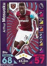 2016 / 2017 EPL Match Attax Base Card (345) Arthur MASUAKU West Ham United