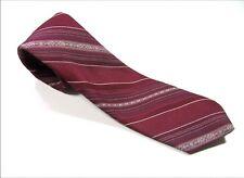 Skinny SEARS Neck Tie RED STRIPES 100% Polyester Necktie Vintage White Lite Blue