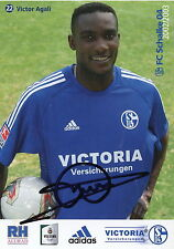 Fankarte 2002 2003 victor agali FC shalke 04 gelsenkirchen Futbol liga Federal