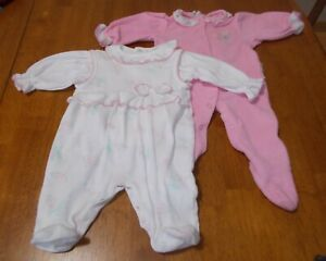 """Vintage Baby Girl """"Little Me""""  2 piece Outfit plus Carter's Baby Girl  Sleeper"""