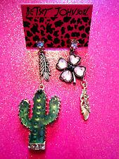 Betsey Johnson Cactus Dangle Earrings