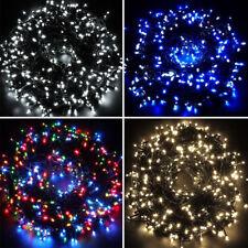 SERIE 100 LUCI NATALE 100 LED PER ESTERNO INTERNO LUCE RGB BLU BIANCA CALDA 9 MT