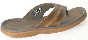 Timberland Men's Fells Slide Sandals Slipper Flip Flops Brown LEATHER 5340A USA