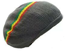 Gray Grey Beret Tam Hat Rasta Slouch Beanie Cap Dreadlocks Dreads Hair M/L