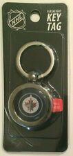 Winnipeg Jets NHL hockey puck style flashlight key tag keyring NEW nip