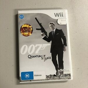 James Bond 007: Quantum of Solace -Nintendo Wii Manual PAL VGC