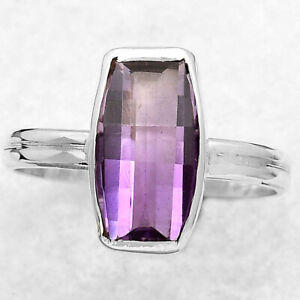 Amethyst - Brazil 925 Sterling Silver Ring s.8 Jewelry 6387