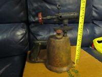 Vintage Antique Turner Brass Soder Torch Gas Blow Torch (4)