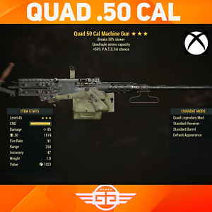 QUAD .50 CAL - 50 VHC - breaks 50% slower - Fallout76 [XBOX]