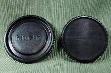 Minolta BC-1 Camera Body Cap & Rear Lens Cap OEM Genuine Original Vintage