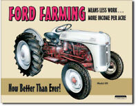 Ford farming 8N Metal tin sign farm tractor home garage Wall decor new