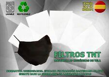 20 filtros TNT 100% polipropileno para cubreboca 0mascarilla filtro abertura