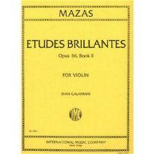 International Music Co. Mazas Etudes Brillantes Opus 36, Book 2 for Violin