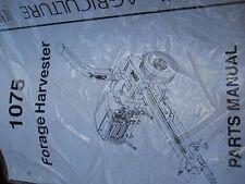 GEHL Parts Manual for 1075 Forage Harvester