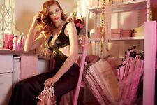 NWT Agent Provocateur Michelle Dress Black Lace Slip Maxi Size 2 Small Rrp $990