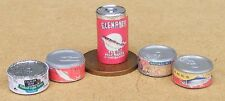1:12 Scale 5 Fish Tin Selection Dolls House Miniature Food Can Accessory FiT1