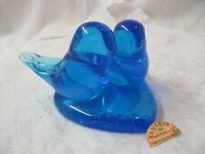 Vintage 1990's Terra Studios Leo Ward double Blue Bird of Happiness