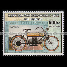 ★ FN FABRIQUE NATIONALE TYPE A 1905 ★ CONGO Timbre Moto / Motorcycle Stamp #272
