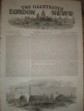 Hale's Rocket Factory at Rotherhithe London 1853 old print ref T