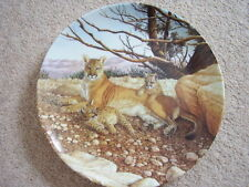 Edwin M. Knowles North America Oldest Porcelain animal-lion plate,The Congar
