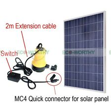 Solar Powered Submersible Water Pump W/ 160W Solar Panel for Watering Pond
