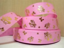 1 METRE PINK BALLET SHOES RIBBON SIZE 7/8 BOWS HEADBANDS HAIR BOWS BIRTHDAY CAKE