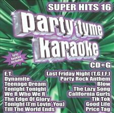 Party Tyme Karaoke - Super Hits 16 (16-song CD+G)...NEW