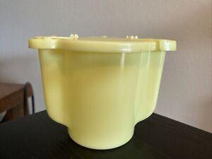 Vintage Tupperware Sugar Bowl Flip Top Dispenser Yellow 577-1