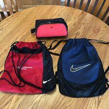 NIKE Drawstring Bags (2) + Travel Kit Toiletry Bag