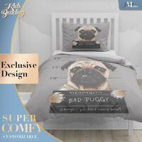 Pug Mugshot Art Pop Art Brown Duvet Cover Sets Zipper And Pillow Cover