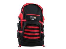 Regatta 80L Padded Support System Travel Hiking Backpack Black Red