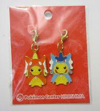 Pokemon Center Hiroshima Karpchu & Pikados Metal Charm Set - US Seller