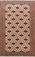 7x10 All-Over Geometric Bokhara Oriental Area Rug Wool Hand-Knotted Home Decor