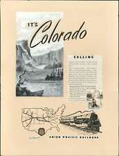 1946 Manuscript Draft Edition Ad of the Union Pacific Route to Colorado