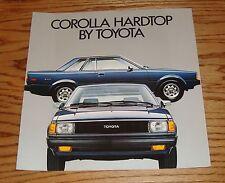Original 1981 Toyota Corolla Hardtop Sales Brochure 81