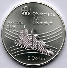 CANADA 5 DOLLARS 1976 BU KM#109 Montreal Olympics, Silver In Capsule. B7