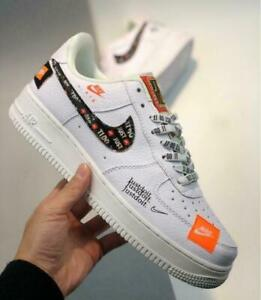 NK AIR FORCE 1 '07 Low JUST DO IT Bianco Sneaker PRM JDI AR7719 100 // 2021