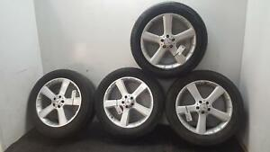 """MERCEDES GL-CLASS X164 SET OF 4 8.5JX20"""" 45 SPOKE ALLOY WHEELS WITH TYRES"""