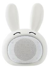 Enceinte Bluetooth Animal Lapin Blanc Haut-Parleur Portable Mignon iOS Android