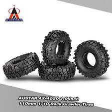 AUSTAR 4Pcs AX-4020 1.9 Inch 110mm 1/10 Rock Crawler Tires for TF2 RC Car T9Z9