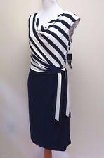 Lauren Ralph Lauren Striped Cocktail Dress Size 8 # O 16