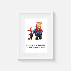Winnie the Pooh print, poster, Disney, quote, wall art, gift, party, Picture