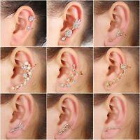 New Elegant Wrap Earring Crystal Punk Cuff Clip Ear Stud Rhinestone LEFT EAR