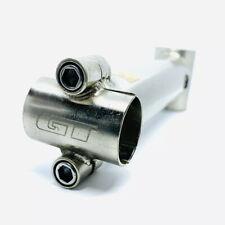 "GT Stem Threadless 1 1/8"" X 135mm MTB 90s LTS Steel Silver Vintage 25.4 Clamp"