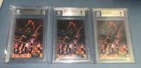 1992 Stadium Club MC Rookie card SHAQ Shaquille O'NEAL BGS 9 Mint lot X 3