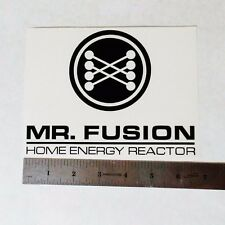 Mr Fusion Reactor Vinyl Decal Sticker Blk/Wht/Red Logo Window Back To The Future